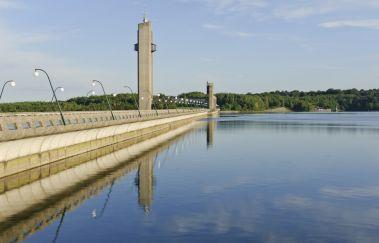 Visite du barrage des Lacs de l'Eau d'Heure-Lac bis