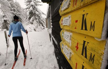 Pistes de ski de fond de Saint-Hubert-Ski de fond bis Provinz Luxemburg