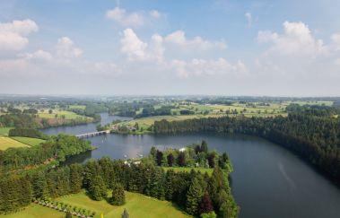 See und Talsperre von Robertville-Sports d´eau bis Provinz Lüttich